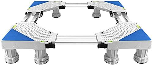 Ghongrm Lavadora Máquina de Base Soporte Anti-óxido Multifuncional Secador Multifuncional y frigorífico Pedestal Longitud/Ancho 53-69cm Frigorífico Ajustable Altura de Marco de Base 10-13cm Mateta a
