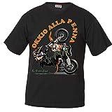BrolloGroup Maglietta Motocross Motard Occhio alla PennaT-Shirt Personalizzate PS 27431-Impennata-L-nero