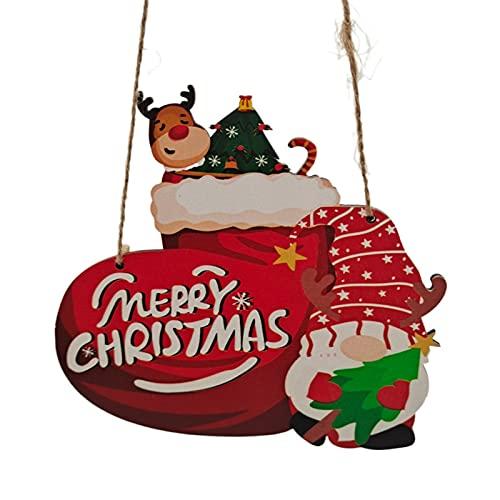 Kit de decoración para Navidad, colgador de puerta de Navidad, aplicación amplia, práctica y exquisita, placa de pared con cordón para el hogar