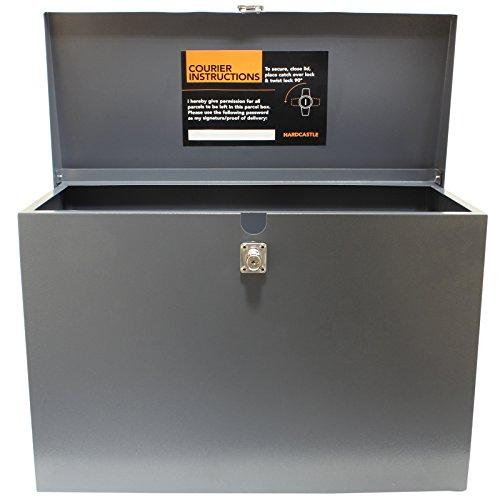 Hardcastle – Abschließbare Paketbox aus Metall – Groß – Grau - 4