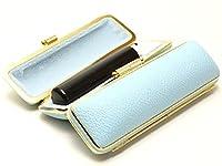 「彩華 黒印鑑15.0mm×60mmファンシーレザーケース(ブルー)付き」 横彫り 古印体