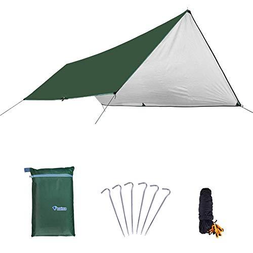 WXGY - Toldo impermeable multifuncional para acampada, hamaca para la lluvia, tienda de campaña, toldo ligero para camping, refugio para viajes al aire libre, senderismo, equipo de supervivencia, 300 cm x 400 cm