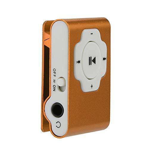 MP3 Player, Tuscom Mini Portable USB MP3 Player Support Micro SD TF Card 32GB, Clip Music Player, MP4 Player, Video/Media/Music Player for Sport and Music Lovers (Orange)