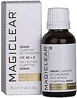 Luxury Serum Dark spot remover for face and body, Acne scar removal serum. Lightening whitening clarifying organic serum anti age Vitamin C.Best Swiss brand Magiclear 30 ml. 100% result guarantee.
