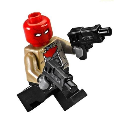 LEGO DC Comics Super Heroes Minifigura–rojo campana con pistolas de doble (76055)