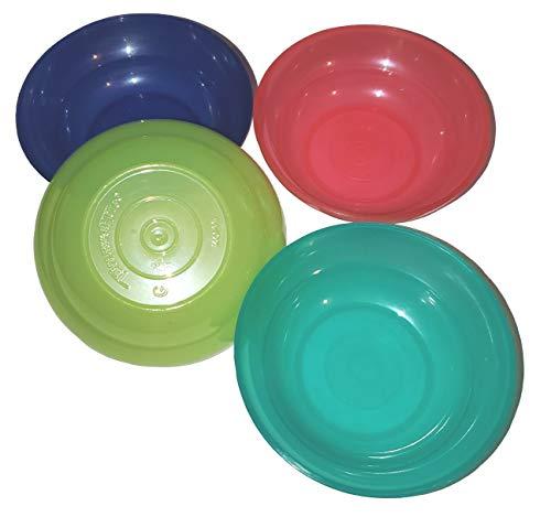 Tupperware Mini Bowls Play Set Doll Size Set of 4 Red Blue Green Aqua
