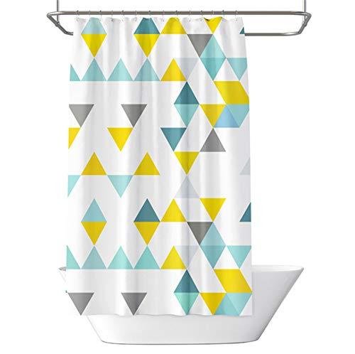 Duschvorhang, Anti-Schimmel Gelbgrünes Geometrisches Dreieck Wasserabweisend Waschbar Duschvorhäng Polyester Badvorhang 120 x 180 cm