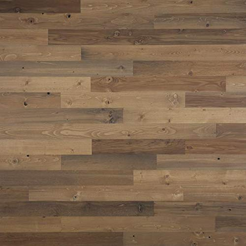 """Timberchic River Reclaimed Wooden Wall Planks - Simple Peel and Stick Application. (3"""" Wide - 10 Sq. Ft, Sandy Beach)"""