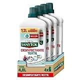 Sanytol – Desinfectante Textil, Elimina Gérmenes y Malos Olores de la Ropa Sin Lejía – Pack de 4 x 1.200 ML= 4,8L