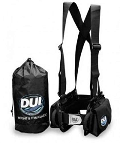 DUI Classic Weight Belt Harness for Drysuit Scuba Diving Dry Suit, Large