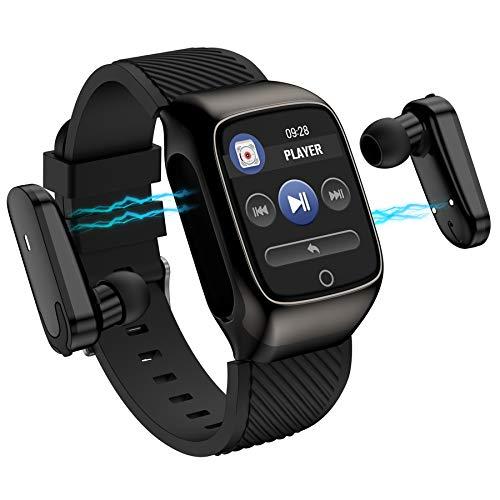 CYC Pulsera Reloj Inteligente Auriculares para Llamadas Bluetooth Ritmo Cardiaco Podómetro Monitoreo del Sueño Reloj Deportivo para Android iOS