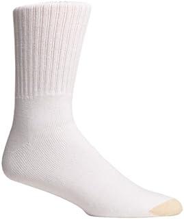 Gold Toe Men's Cotton Crew Athletic Sock, 3-Pack