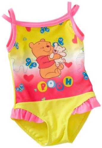 Disney 88872 - Winnie Pooh badpak met ruches opdruk geel