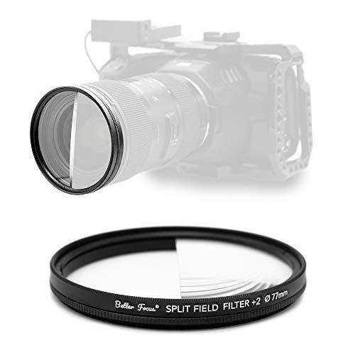 Better Focus - Drehbarer Split Field Diopter Objektiv +2 Filter 77mm 82mm 67mm 72mm - Prisma Filter - Makrolinse - Makrovorsatz - Prism Fotografie - Geschenk für Fotograf (Split Diopter 77mm)