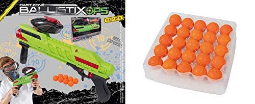 Lively Moments Powerball Blaster ca. 45 cm & 25 Ersatzbälle von Dart Zone Ballistix Ops / Spielzeug Gewehr / Ballspiel