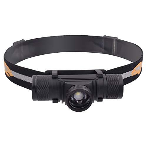 Sandy Cowper Taschenlampe D20 5W XML-2 1200 LM USB-Lade IPX6 wasserdicht drehen Fokus Stirnband leuchtet im Freien LED-Scheinwerfer LED-Lampe Taschenlampe Schmieröl