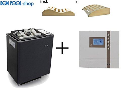 Saunaofen Bi-O-Thermat 7,5kW inclusive Steuergeraet und 2 Kopfkeile BONPOOL