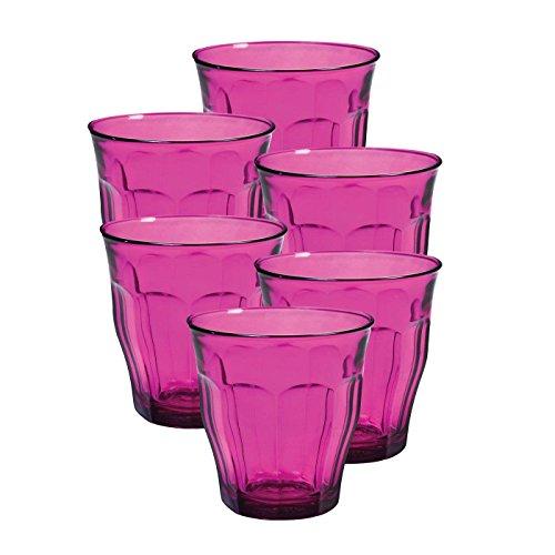 Duralex Picardie 25 Ci - Vaso de cristal (8,75 oz), color rosa