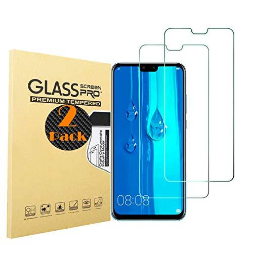 Ultra Delgado 99/% Transparencia Vidrio Templado Protector de Pantalla Anti Aceite GIMTON Protector de Pantalla para Huawei P Smart 2 Unidades