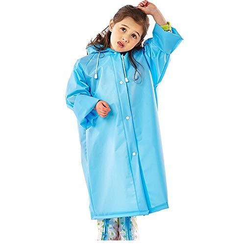 zhaoyangeng Meisjes Jongens Baby Kinderen Blauw Regenjas Eva Regenjas Peuter Regenkleding Hooded Poncho Regenjas Regenjas Regenjas Voor Kinderen Maat (M)