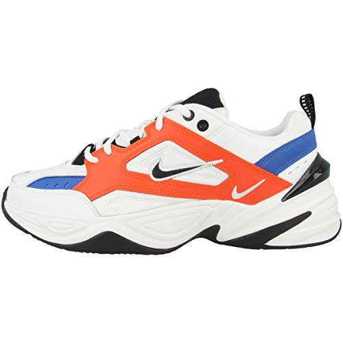 Nike Herren M2K TEKNO Fitnessschuhe, Mehrfarbig (Summit White/Black/Team Orange 100), 44 EU