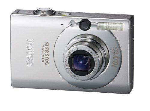 Canon Digital IXUS 85 IS Digitalkamera (10 MP, 3-fach opt. Zoom, 6,4cm (2,5 Zoll) Bildschirm, Bildstabilisator) silber