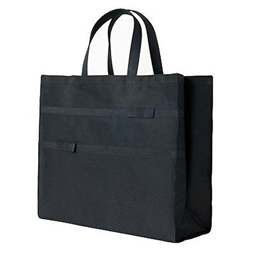 ハッピークローバー A3サイズ 横型 完全自立型リボンサブバッグ【紺】【黒】 sb-b0001 (黒)