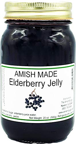 Amish Elderberry Jelly - 20 Oz Jar - Qty 2 Jars