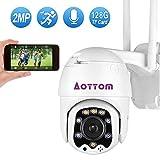 Aottom WiFi Telecamera di Sorveglianza PTZ IP Camera1080P 2.0MP ONVIF, Dom Videocamera P2P...