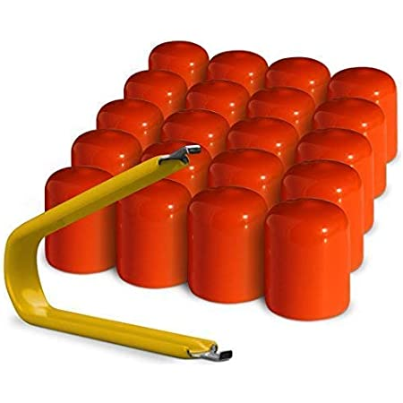 Made in The USA ColorLugs Vinyl LugCap Lug Nut Cover Orange Fits 17mm Wide x 1 Inch deep Pack of 20 /& Deluxe Extractor Flexible Fit Lug Nut Cap Available in a Variety of Colors and Sizes