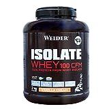 Weider Isolate Whey 100CFM 2000gr Vainilla. 100% aislado de proteina de suero. Cero azúcar, cero aspartamo, con stevia, con dygezime, con BCAA, apto para veganos. Isolac. Para dietas keto.