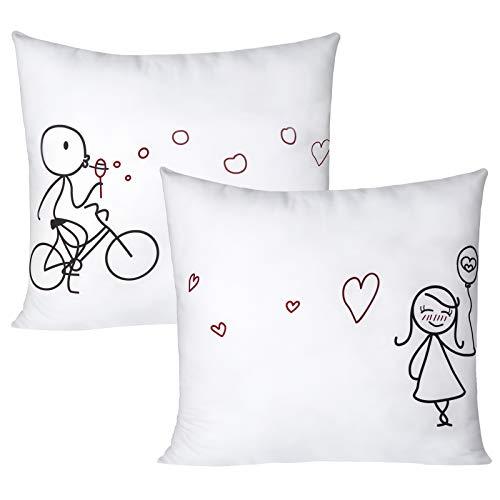 fundas de cojín 45x45, de algodón con diseño personalizado, fundas de almohada decorativas, súper suaves y transpirables para la sala de estar, dormitorio, sofá, silla, protector de almohada