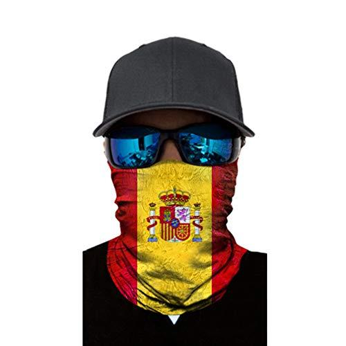 Bigood Cagoule Ski Moto Tour de Cou Couleur Drapeau National Unisexe Espagne