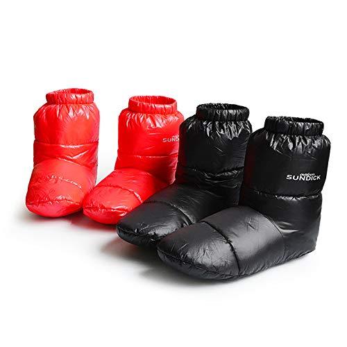 Janly Clearance Sale Calcetines, Calienta Interior de Abajo Zapatillas de Ganso Blanco, Invierno Calentado Zapatos Calcetines Pantuflas Regalo para el Día de San Valentín (Rojo-M)