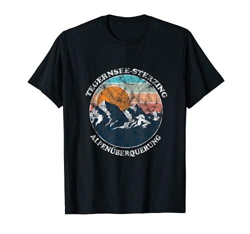 Alpenüberquerung Tegernsee Sterzing Retro Vintage Crunge T-Shirt