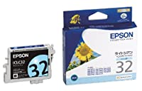EPSON 純正インクカートリッジ ICLC32ライトシアン