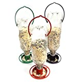 Gadjit 3 Hanging Soda Bottle Bird Feeders-3 Fun Inexpensive Project for Kids at Home |Fill Plastic Soda Bottles with Bird Seed, Twist on Feeding Tray, Hang Outdoors, Pack of 3