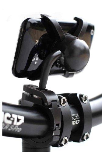 NC-17 Connect stuurhouder voor smartphone en mobiele telefoon/voor Apple iPhone 3/3G (verstelbare fietshouder, geschikt voor down-Hill en mountainbiking)