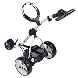 An image of the motocaddy M1 electric golf trolley