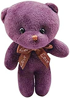 EXTOY Mini 6 Colors I Teddy Bear Plush Stuffed Children Toys Doll for Wedding Party DIY Wer Bouquet Decoration Doll for Kids Must Have Kids Items Boy Gifts Favourite Movie Superhero Coloring