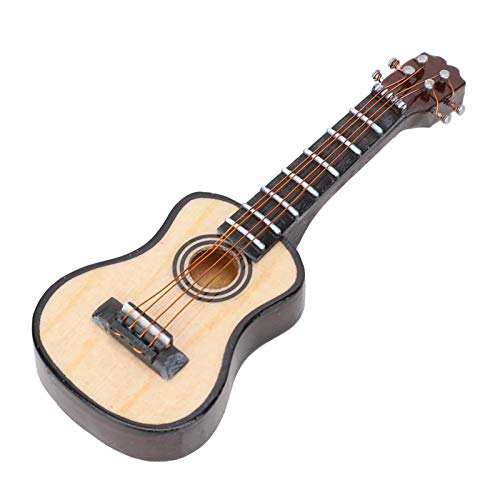 SALUTUYA Tilo, 8 cm, Ornamento de Guitarra, Apariencia Real, con Delicada Caja de Regalo, Modelo de Guitarra, para Estudio para Escritorio