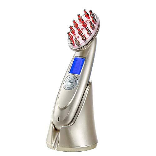 Peigne Massage éLectrique, Peigne Croissance Cheveux, FréQuence Radio Traitement Anti-Chute, Appareil Traitement Au Laser, Lampe à Led Peigne ThéRapeutique