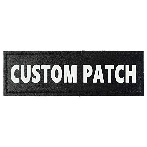 Custom Fluorescent Name Personalized Dog Vest Patches, 2 PCS Removable Patches for Dog Harness –Tactical Dog Harness Velcro Patch
