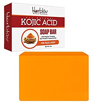 Kojic Acid Soap Face & Body Wash – Natural Brightening Lightening Skin Cleanser Dark Spot Corrector Acne Scar Remover with Turmeric Oat Protein & Essential Oils – Brightens Lightens the Whole Body