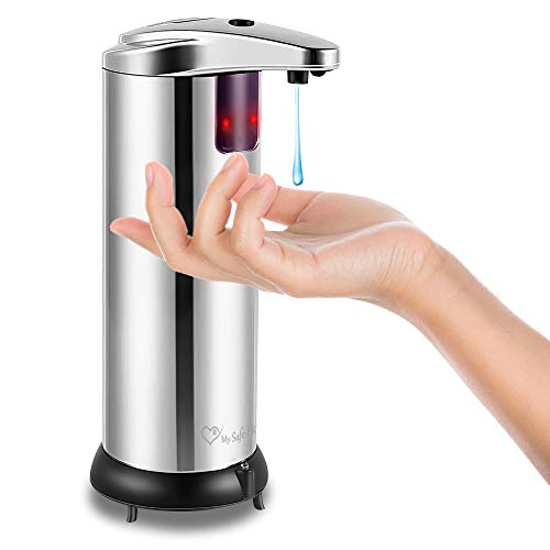 My Safe Home Hands Free Soap Dispenser – Automatic Soap Dispenser for Kitchen Sink – Infrared Motion Sensor Pump – Waterproof Auto Soap Dispenser Touchless for Bathroom, Office, Restaurant
