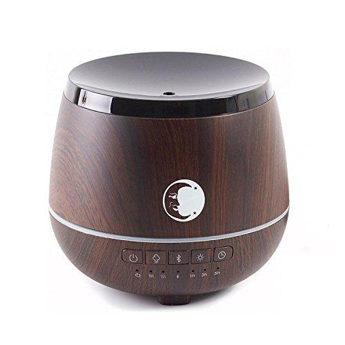 Mystic Moments Diffuseur d'huiles essentielles à ultrasons avec Haut-Parleur Bluetooth et lumières LED Effet Bois