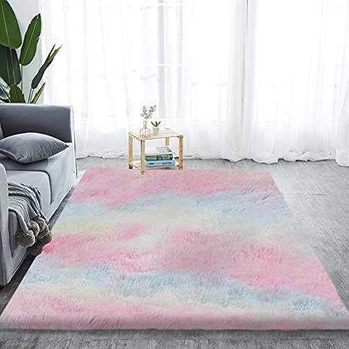 Alfombra de pelo largo para salón, suave área de rea, dormitorio, Shaggy, dormitorio, alfombra de cama, exterior, multicolor, 180 x 270 cm