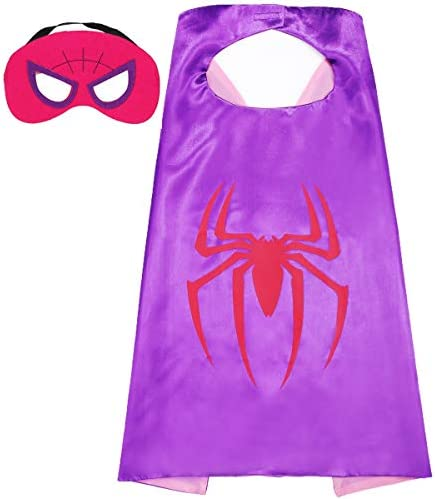Aodai Halloween Costumes and Dress up for kids Girl spiderman Costume Cape and Mask product image