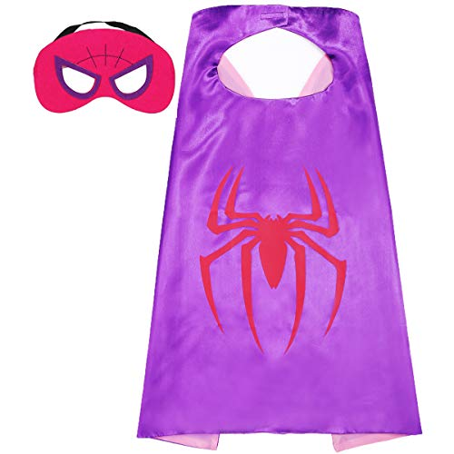 Aodai Halloween Costumes and Dress up for kids - Girl spiderman Costume Cape and Mask