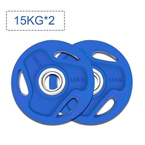 Barbell Plate Colorful Hand Grab Barbell Plate Large Hole Barbell Set Home Weightlifting Professional Olympic Bar Barbell Bar Gym Equipment (Size : 2.5kg/5.5lb)